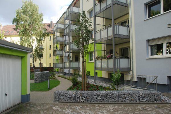 Tewes-Kampelmann Galabau Herne Neuanlage in Herne mit Bepflanzung Pflasterarbeiten Sichtschutz - WV Otto-Hue-Straße in Herne (2)