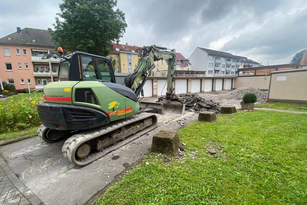 Tewes-Kampelmann Galabau Herne Umgestaltung eines Garagenhofes in Herne_Feldkampstraße_Neuanlage (2)