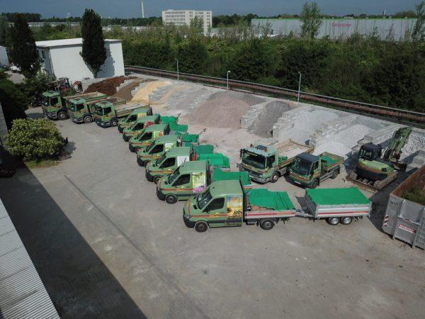 Tewes-Kampelmann Garten- und Landschaftsbau GmbH in Herne Unternehmen Fahrpark Arocs Atego Sprinter Radlader Bagger 2021 (7)