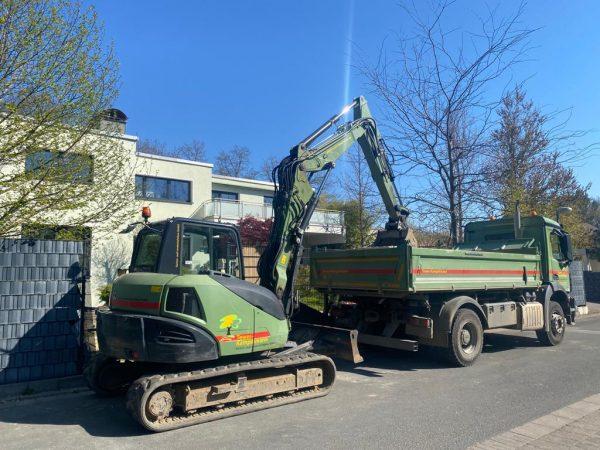 Tewes-Kampelmann Garten- und Landschaftsbau GmbH in Herne Unternehmen Fahrpark Arocs Atego Sprinter Radlader Bagger (22)